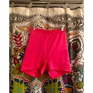 VINTAGE neon pink high waisted bike yoga shorts